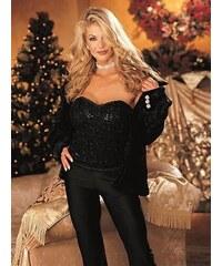 Shirley of Hollywood luxusní černý korzet s flitry vel. M