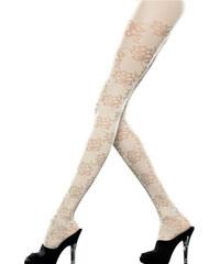 Emilio Cavallini luxusní punčocháče s květy