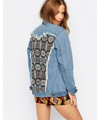 ebonie n ivory - Oversized-Jeansjacke mit verzierter Rückenpartie - Blau
