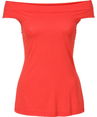 BODYFLIRT Carmen Top in rot (Carmen-Ausschnitt) für Damen von bonprix