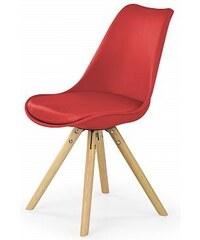 Jídelní židle K201, červená