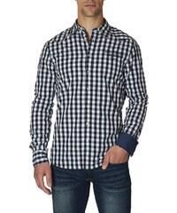 Paul Stragas Pánská košile CH-232-432-BLACK-/-WHITE