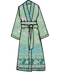 Große Größen: Kimono, Bassetti, »Jasmine«, mit orientalischen Motiven, grün, Gr.L/XL-L/XL