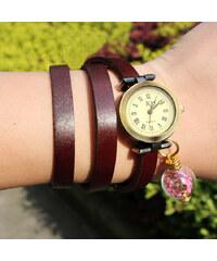 Lesara Wickel-Armbanduhr mit getrockneter Blüte