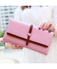 Lesara Geldbörse mit Herz-Applikation - Pink