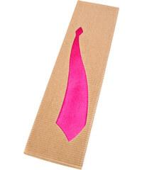 Avantgard Hnědá podlouhlá dárková krabička na kravatu