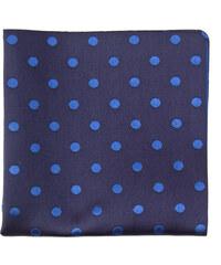 Avantgard Tmavě modrý kapesníček s modrými puntíky