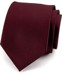 Avantgard Tmavě hnědá luxusní kravata bez vzoru _