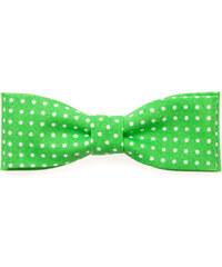 Avantgard Zelený motýlek s bílými puntíky