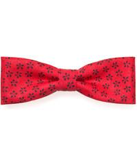 Avantgard Červený bavlněný motýlek s květovaným vzorem