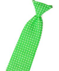 Avantgard Zelená chlapecká kravata s puntíky_