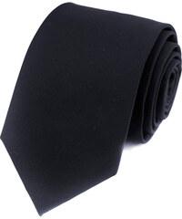 Avantgard Velmi tmavě modrá vlněná jednobarevná kravata _