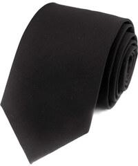 Avantgard Černá vlněná jednobarevná kravata _