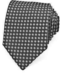 Avantgard Černá kravata s drobným zdobením