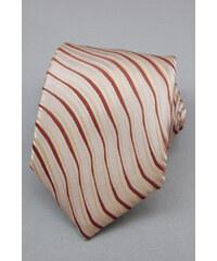 Avantgard Velmi světle hnědá kravata s nepravidelnými proužky