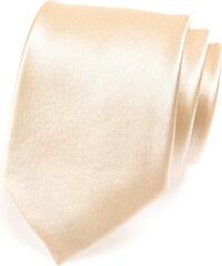 Avantgard Béžová jednobarevná lesklá kravata