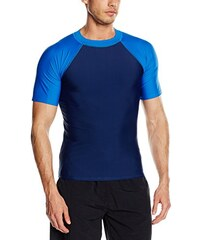 Aquatinto Herren Bade-Shirt Basic mit Raglan-Arm, UV +50