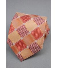 Avantgard Kostkovaná velmi světle červená luxusní kravata _
