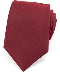 Avantgard Světle bordó jednobarevná jemně lesklá luxusní kravata _