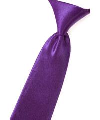 Avantgard Zářivě fialová chlapecká jemně lesklá kravata _