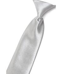 Avantgard Stříbrná chlapecká jemně lesklá kravata _