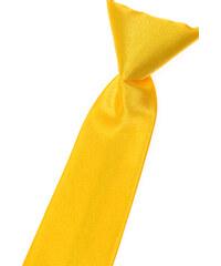 Avantgard Zářivě žlutá chlapecká jemně lesklá kravata _