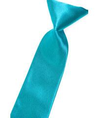 Avantgard Zářivě tyrkysová chlapecká lesklá kravata _