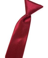 Avantgard Bordó chlapecká jednobarevná jemně lesklá kravata _