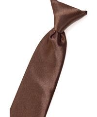 Avantgard Světle hnědá chlapecká jemně lesklá kravata _
