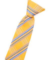 Avantgard Světle žlutá chlapecká proužkovaná kravata _