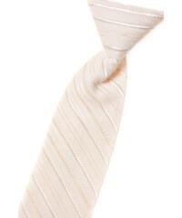 Avantgard Světle smetanová chlapecká leskle proužkovaná kravata _