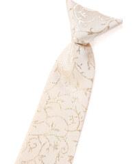 Avantgard Smetanová chlapecká kravata se třpytivým květovaným vzorem