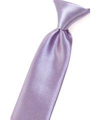 Avantgard Lila chlapecká jemně lesklá kravata bez vzoru _