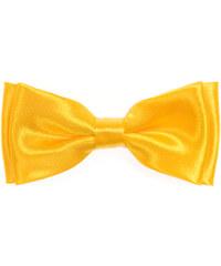 Avantgard Žlutý jednobarevný chlapecký motýlek