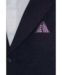 Avantgard Fialový kapesníček s tmavým vzorem