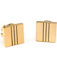 Avantgard Zlaté manžetové návleky na knoflíčky s černými pruhy