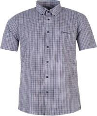 Košile pánská Pierre Cardin Short Sleeve Navy/Purp Check