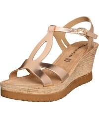 TAMARIS Keil Sandalette im Metallic Look