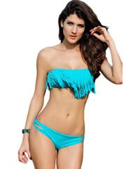 LM moda Plavky s třásněmi tyrkysové LM503