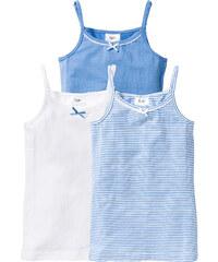 bpc bonprix collection Lot de 3 tricots de peau, T. 128/134-176/182 bleu enfant - bonprix