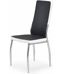 Jídelní židle K210, černo-bílá