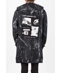 Sixth June Mikina Hood Oversized Marble Black