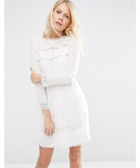 Needle & Thread - Robe en dentelle à empiècements - Blanc