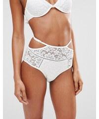 Somedays Lovin - Coco - Bikinihose mit Spitze - Weiß