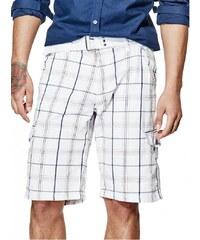 GUESS GUESS Felixx Plaid Cargo Shorts - true white
