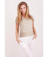 SAM 73 Dámské proužkované tričko TSWS16_23 beige - béžová
