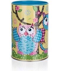 BANQUET Plechovka / kasička OWLS ROUND SMALL 7 x 11 cm