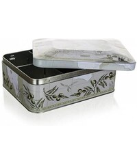 BANQUET Plechovka / box na čaj OLIVES 20 x 15,5 x 8 cm