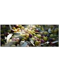 Acrylglasbild Mediterrane Oliven - Panorama 80/30 cm HOME AFFAIRE grün