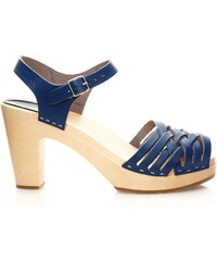 Swedish Hasbeens Braided Sky High - Sandalen - blau